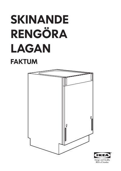 Ikea lagan lavastoviglie integrata 00299378 istruzioni - Montage porte lave vaisselle encastrable ikea ...