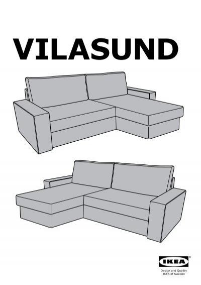 Ikea vilasund divano letto con chaise longue s49907185 - Montaggio divano ikea ...