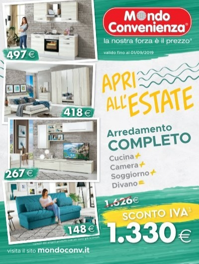 Mondo Convenienza Brescia Materassi.Mondo Convenienza 3 Giugno 1 Settembre 2019