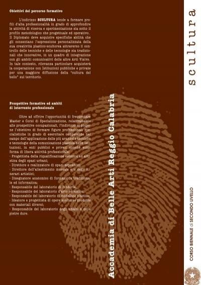 Scultura accademia di belle arti reggio calabria for Accademia belle arti design
