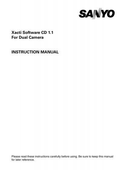 xacti software cd 1 1 for dual camera instruction sanyo rh yumpu com Apple iPhone User Guide Apple iPhone User Guide