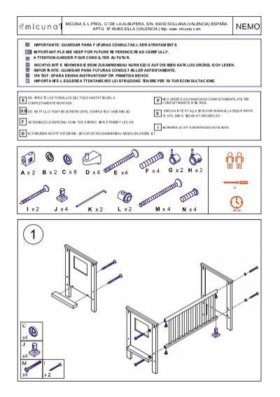C micunaplanos montajeplanos montaje okcunas - Instrucciones montaje cuna ...