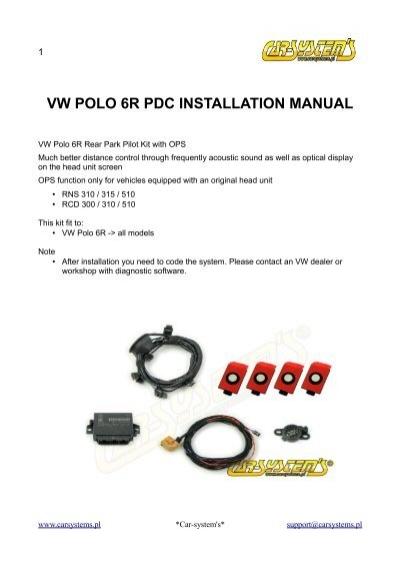 vw polo 6r pdc installation manual rh yumpu com VW Polo 9N VW GTI