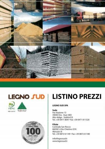 Listino prezzi legno sud for Listino prezzi case legno
