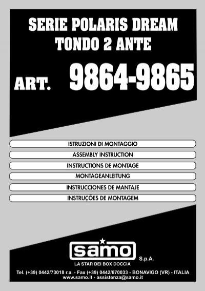 Polaris Dream Box Doccia.Spa Serie Polaris Dream Tondo 2 Ante Samo