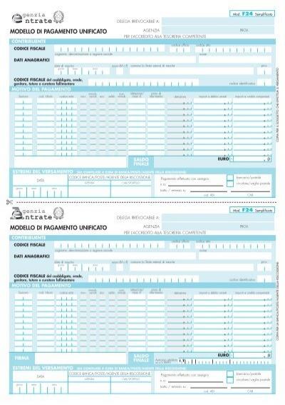 F24 semplificato compilabile studio format sas for F24 unificato
