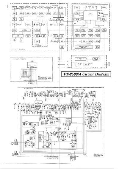 yaesu ft-2500m circuit diagram