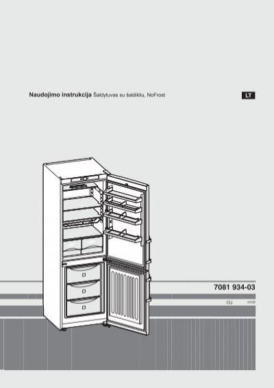 Liebherr šaldytuvai instrukcija