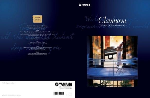 Brochure yamaha clavinova cvp 401 t m cvp 409 clavis for Yamaha clavinova cvp 409