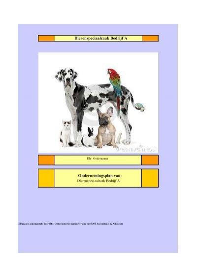 ondernemingsplan dierenwinkel Ondernemersplan demo dierenzaak   MKB Bedrijvensupport ondernemingsplan dierenwinkel