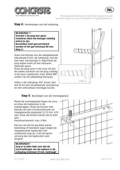 Stap 6 Ophangen van de # Wasbak Montage_202843