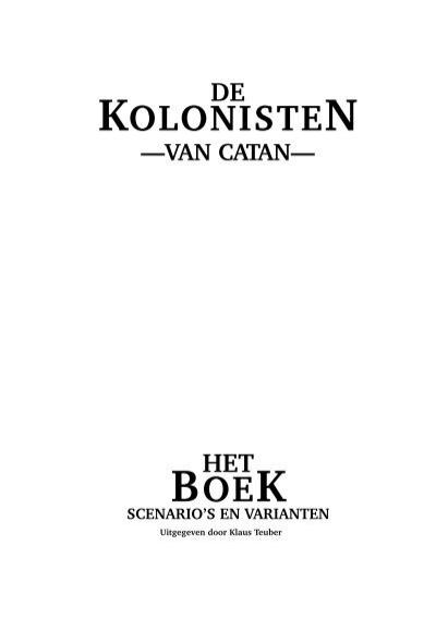 kolonisten boek