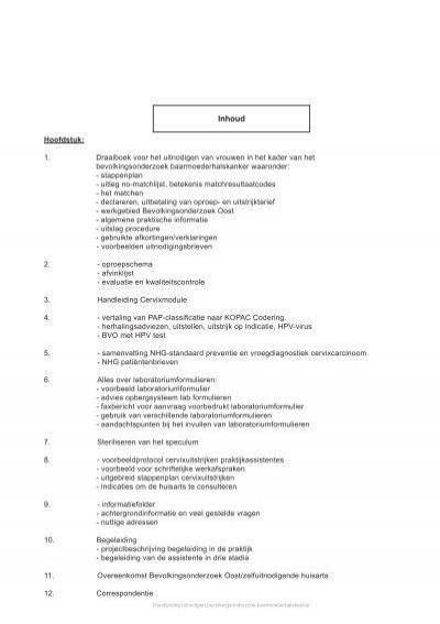 praktijkhandleiding 2013 - bevolkingsonderzoek oost