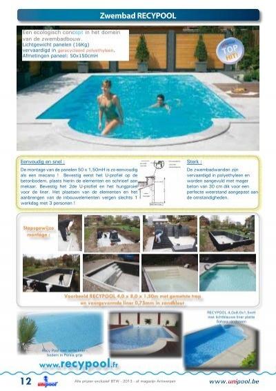 Een ecologisch concept in - Witte pool liner ...