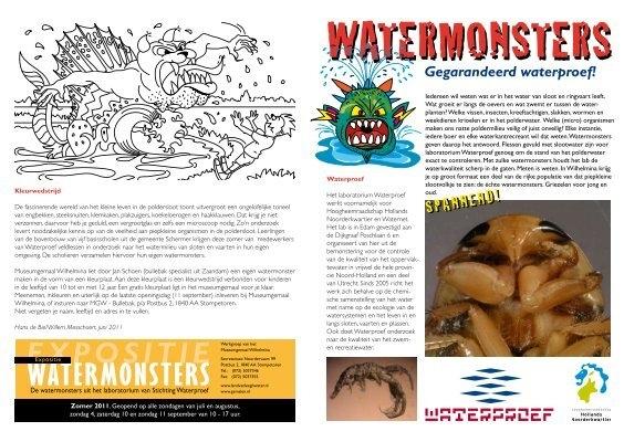 Expositie Watermonsters Stichting Waterproef