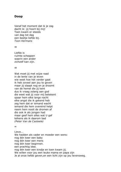 Extra Teksten En Gedichten Doopvoorbereiding Parochie H