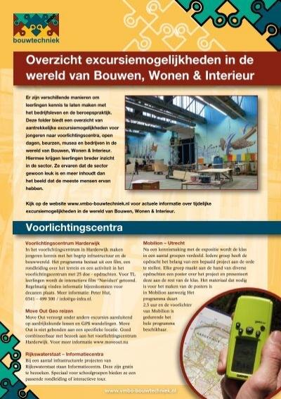 Overzicht excursiemogelijkheden in de wereld van Bouwen, Wonen ...