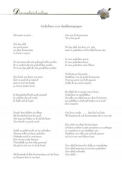 Verwonderend teksten - liefde en goede herinneringen - Derouwbriefonline RL-14