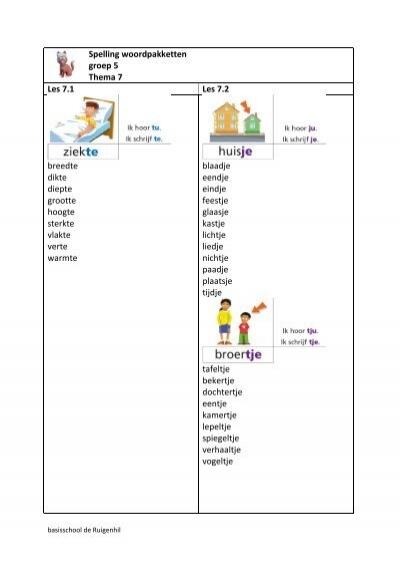 Super Taal Actief spelling - Thema 7 - Groep 6 - Juf Hannah @OQ05