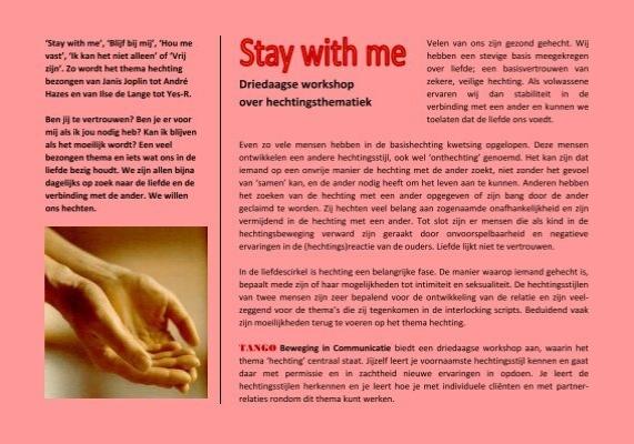 Driedaagse Workshop Over Hechtingsthematiek Tango