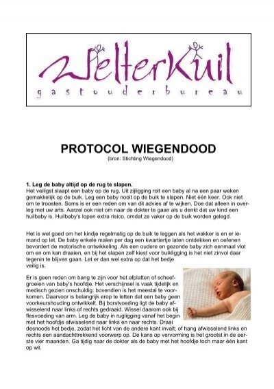 Protocol Wiegendood GOB WelterKuil
