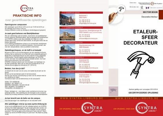 ETALEUR- SFEER DECORATEUR - SYNTRA Limburg