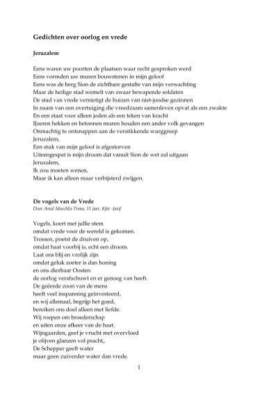 Verrassend Gedichten over oorlog en vrede - Kerk in Actie CG-33