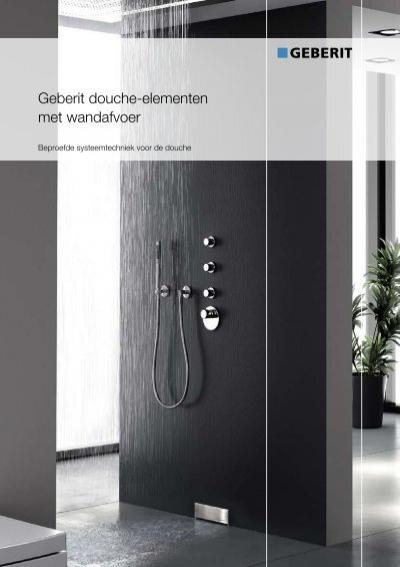 Geberit douche elementen met wandafvoer products for Installer colonne de douche