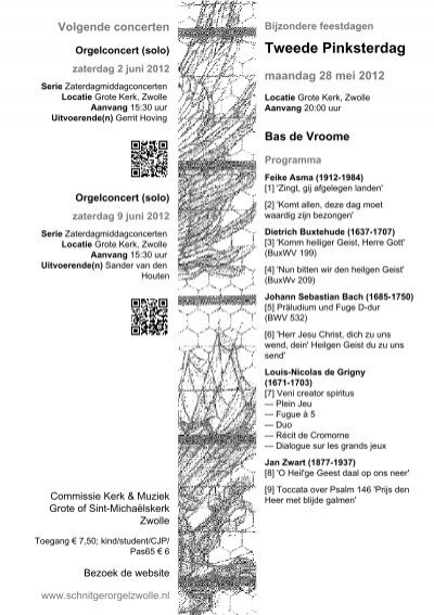 Programmaboekje [PDF] - Schnitger-orgel Zwolle