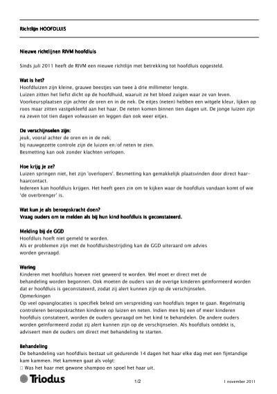 12 Richtlijn Ichtlijn Ichtlijn Hoofdluis Hoofdluis Triodus