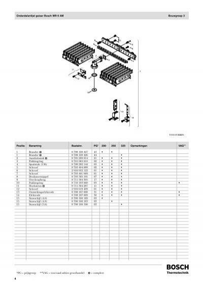 Bosch wr 250 8 manual