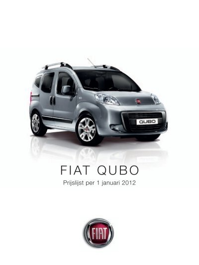 prijslijst fiat qubo. Black Bedroom Furniture Sets. Home Design Ideas