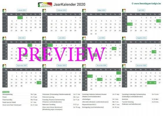 kalender-2020-a4-liggend-feestdagen-preview