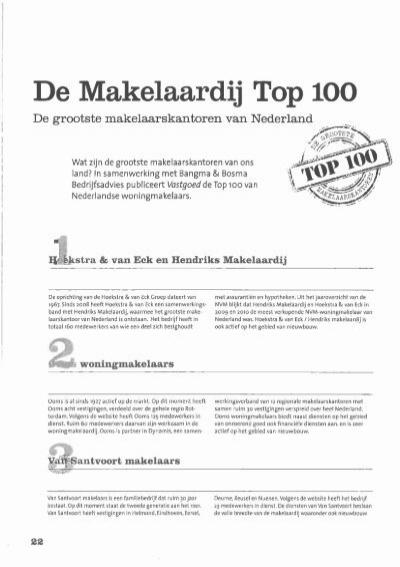 de makelaardij top 100 - drieklomp makelaars en rentmeesters