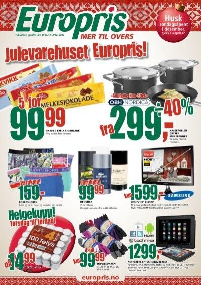 Helgekupp Europris