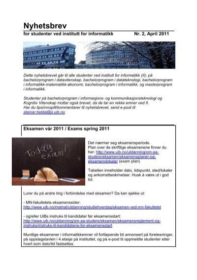Informatikk Matematikk Økonomi