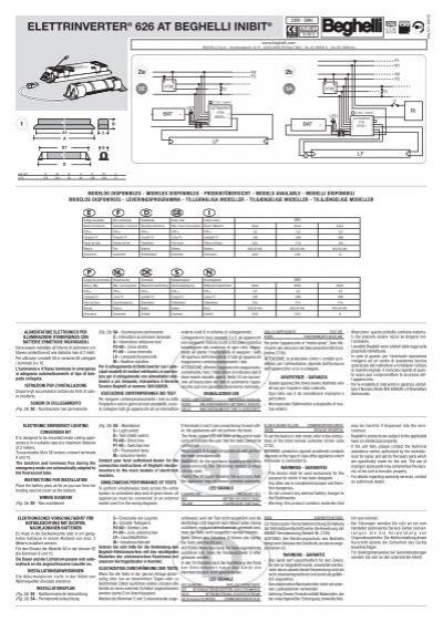 Schema Elettrico Lampada Di Emergenza Beghelli : Alimentateur electronique