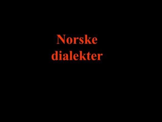 norske dialekter coktail