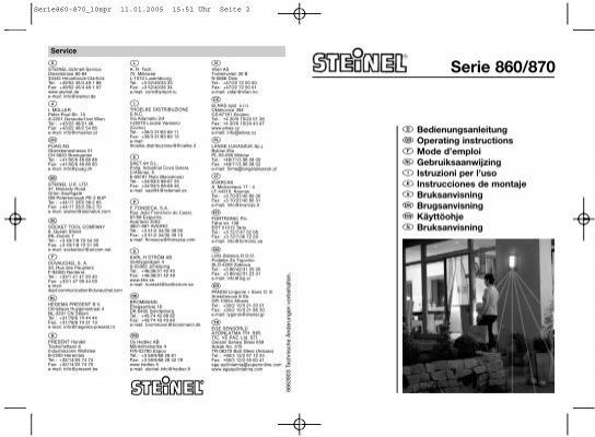 serie 860 870 steinel. Black Bedroom Furniture Sets. Home Design Ideas