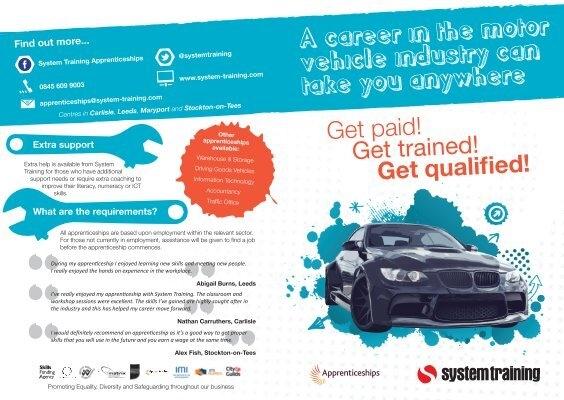 Our Motor Vehicle Apprenticeship Leaflet System Training