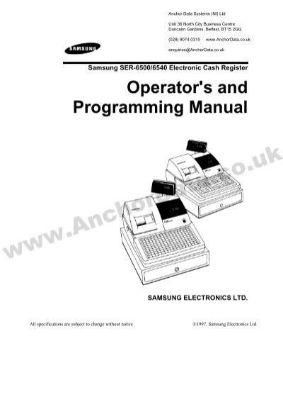 Samsung Cash Register User Manual Ultimate User Guide