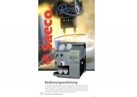 saeco royal digital plus manual pdf