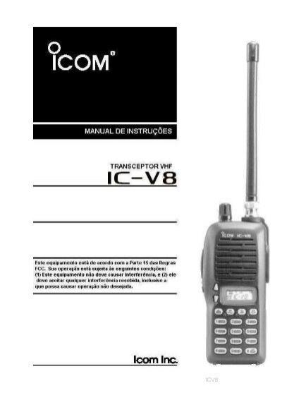 icom ic v8 manual de instru es port arpa rh yumpu com Icom IC V8 Manual icom ic-v8 manual em portugues