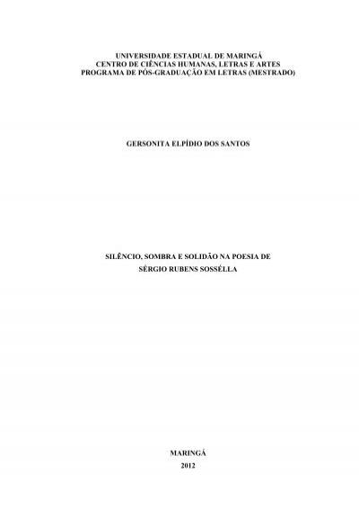 Dissertacao Completa Programa De Pos Graduacao Em Letras