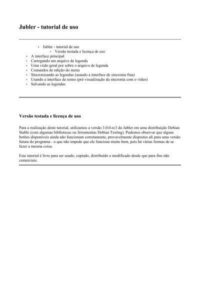 Jubler - tutorial de uso - Início