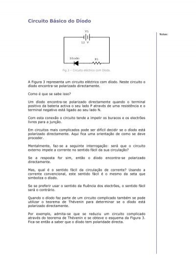 Circuito Electrico Basico : Circuito basico de um diodo