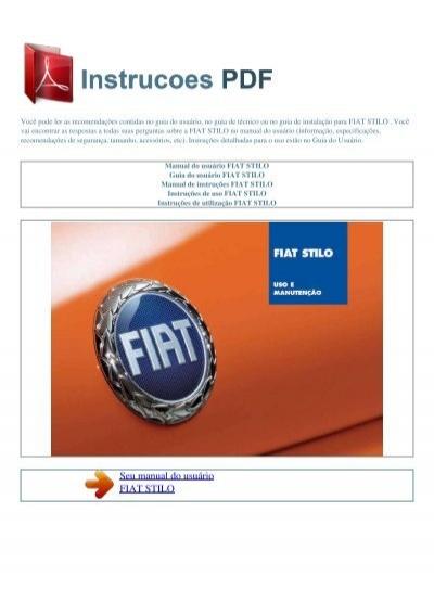 Manual Do Usu U00e1rio Fiat Stilo
