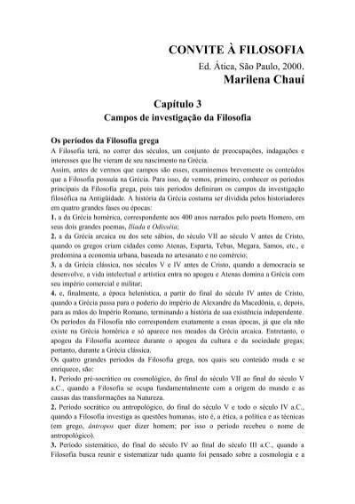 Convite à Filosofia Marilena Chauí