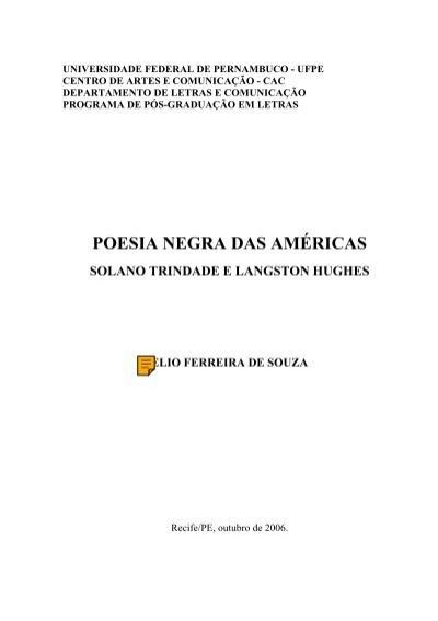 Poesia Negra Das Ama Ricas