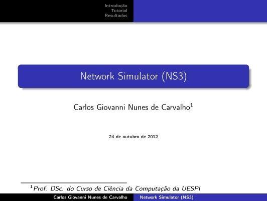 Network Simulator (NS3) - Uespi